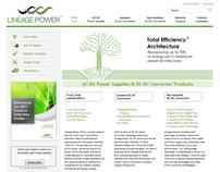 Website for power conversion manufacturer