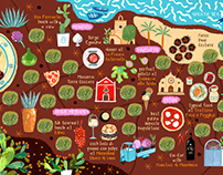 Puglia Mia - illustrated map 2019