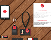 Layout set of corporate identity template