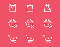 Shopping Bag / Cart Icons