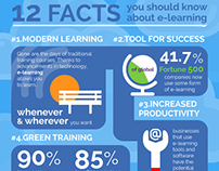 E-Learning Facts Infographic