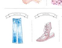 fashion item/illustrations