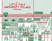 Little Italy and University Village Map