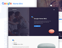 Google Home Mini Landing Page Concept
