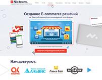 Nixteam | Landing Page | WebDesign