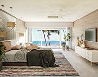Oceanfront Bedroom, Playa del Carmen, Mexico