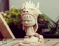 Wild Drac - Project statue