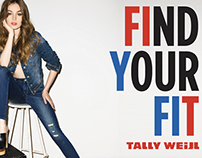 AW15-16 Denim Campaign for Tally Weijl