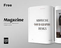 Free Magazine Spread Mockup