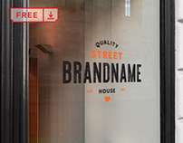 Free Window Sign Mockup