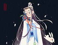 插画 | 魔道祖师 | 月下忘机