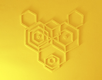 Hexagon Bear Mural