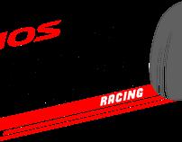 Vios Turbo Racing Car Sticker