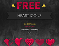 Jumbo Heart Icons (FREE)