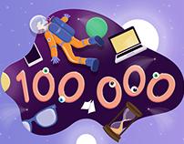 100 000 views