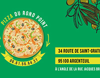 Carte de visite Pizza du rond-point