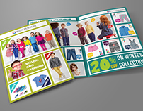 Kids Fashion Products Catalog Bi-Fold Brochure Template
