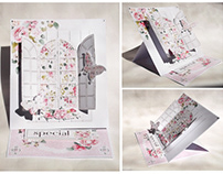 Easel pop up greeting card