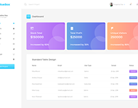 Admin Dashboard Template Free Download XD File