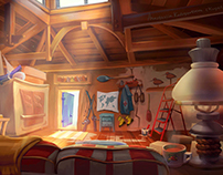 An interior design of a fisherman house