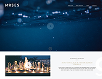 MOSES landing page concept