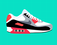 Nike Air Max 90 Infrared | Color Study Over 10 Years
