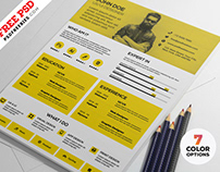 Modern Resume Design Template PSD Set