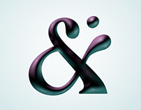 Ampersand April—one ampersand for every April weekdays