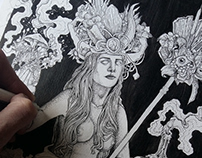 """''Blackmage"""" Dotwork Illustration"""