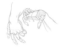Hands anatomy study