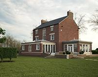 Georgian house - 3d rendering