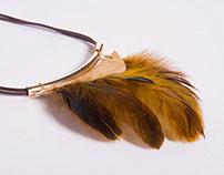 Collier plume de coq