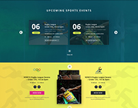 Sports Foundation Website Mockup