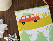 Bringing Home the Tree Fabri/Wrapping Paper