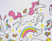 Parede Ilustrada - Loja infantil