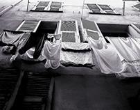 Linge aux fenêtres