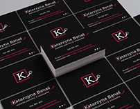 Personal business card for nail stylist & makeup artist