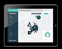Digital dashboard UI with data visualisation