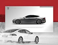Amatos Auto Body Tesla Landing Page - Concept v01