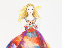 Watercolors Illustration for Emilio Pucci Summer 2015
