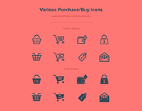 FREEBIES - Various Purchase/Buy Icons