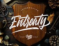 ENTREATY HANDLETTERING - FREE SCRIPT FONT