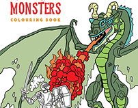 Mega Monster Colouring Book