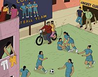 Various illustrations - Nation of Sport magazine - 3