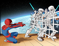 Star Wars / Spiderman storyboard Mazda Schoolplay