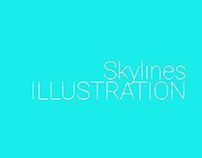 Skylines Illustration for Website Header