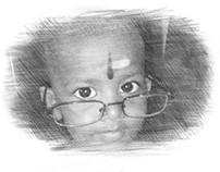 Iniya Pencil Drawing with Photofunia