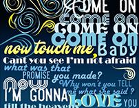 Typography - Lyric poster