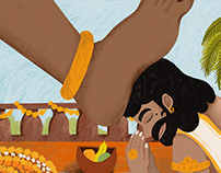 King Mahabali Illustration