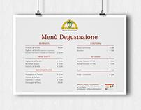 Manifesto Menu Ristorante Lampino